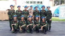 female medical officers stand ready to join un peacekeeping missions