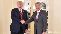 president trump meets pm lee ahead of historic trump kim summit