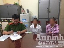 hanois police rescue two girls from trafficking scam