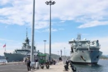 royal canadian navy ships make first visit to cam ranh port