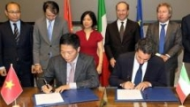 vietnam italy sign mou on energy cooperation