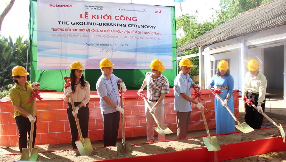 ActionAid Vietnam renovates school in Soc Trang's poor commune