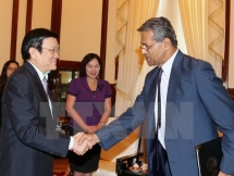 president receives imf representative