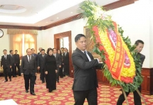 Party and State leaders commemorate Lao leader