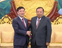 Top Lao leader hails role of Vietnam-Laos Friendship Association