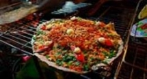 Grilled girdle cake - Vietnam pizza