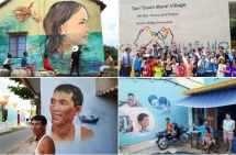 Quang Nam's fishing village with over 100 giant mural paintings