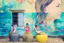 tam thanh mural village wins asian townscape award