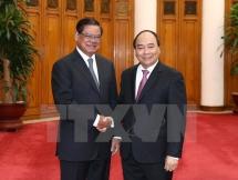 PM lauds Vietnam-Cambodia cooperation in combating crimes