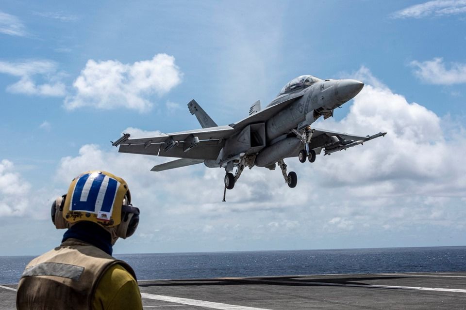 China says it hold military exercises as US carrier enters East Sea