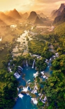 picture of ban gioc waterfall wins first at vietnam from above photo contest