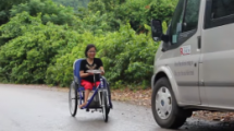 new tricycle from project renew helps ease the burden of disabilities for a mother of two