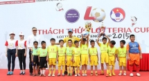 """16 junior football teams in Ho Chi Minh city played at """"Lotteria Challenge Cup 2015"""""""