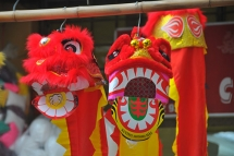 colourful mid autumn traditional toys at hang ma street