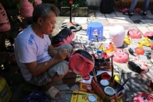 village preserves the trade of making traditional toys for mid autumn festival