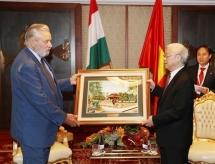 dang vu nhat thang becomes president of hanois vietnam hungary friendship association
