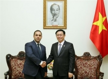 deputy pm vuong dinh hue receives bulgarian guest