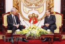 Deputy PM Truong Hoa Binh hosts Singaporean counterpart in Hanoi