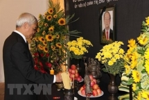 president tran dai quang commemorated in spain venezuela