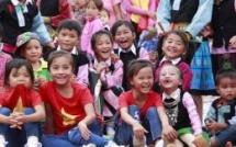 ethnic children in mountainous region celebrate mid autumn festival early