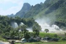 ban gioc a majestic waterfall