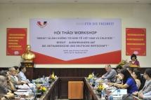 workshop evaluates brexit impacts on vietnam and germany economies