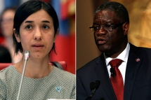 congolese doctor yazidi activist win nobel peace prize for combating sexual violence