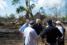 president trump surveys hurricane damage in florida