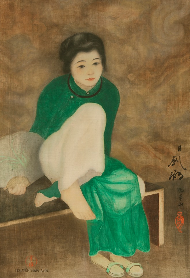 Painting by Vietnamese artist sets record at auction