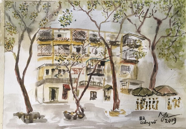 Bilingual sketch book on Hanoi published