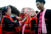 red dao ethnic peoples traditional costume decoration art recognised as national heritage