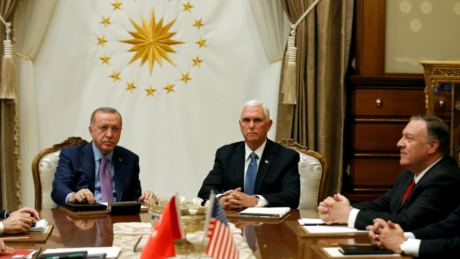 Turkey agrees to pause Syria assault while Kurds withdraw for 5 days