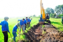 irrigation work built to welcome binh thuan provincial party congress