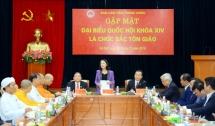 politburo member meets with religious dignitaries as na deputies