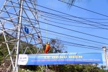 cross ocean power line lights up island commune
