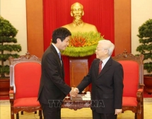 party and state leader welcomes japanese pms special envoy