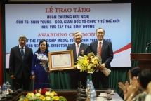friendship order bestowed upon dr shin young soo who regional director