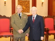 party chief commits support to defence ties with cuba