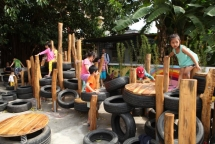 recycled playground opens in hanoi