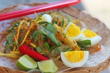 rice paper salad a popular street snack in vietnam