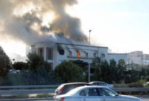 is claimed attack on libya foreign ministry kills at least three
