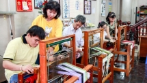 weaving a new life saigonese women offer free sewing lessons to mentally impaired