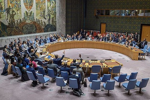 A UNSC meeting session. Photo: VNA