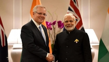 tension in south china sea india australia sign pacts to strengthen military ties