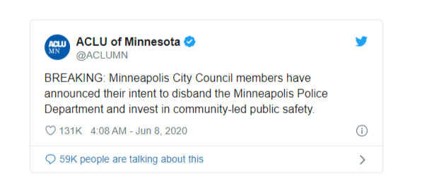 george floyds death minneapolis city council pledges to dismantle police department