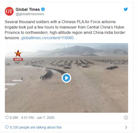 china indias border clash starts media war