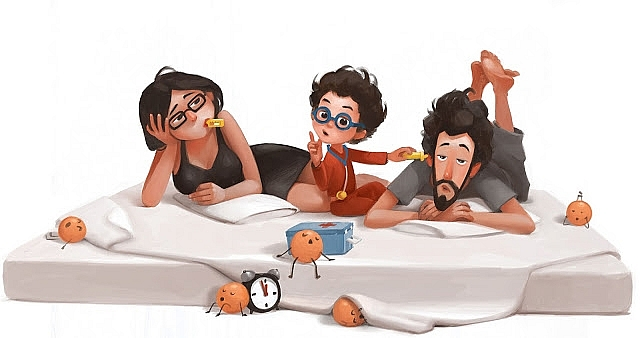 family day illustrations of daily life