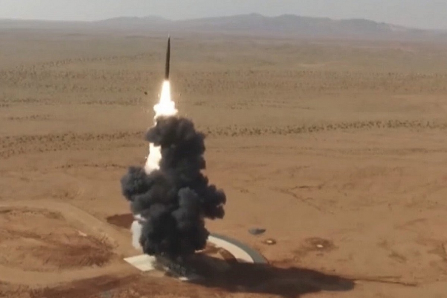 The PLA test-fired a DF-26 missile, which has a range of 4,000km making it capable of striking the US Pacific territory of Guam. Photo: 81.cn
